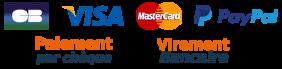Paiement carte virement cheque paypal