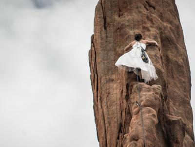 Woman climb